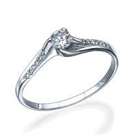 טבעת אירוסין נינה זהב לבן ויהלומים 0.31 קראט