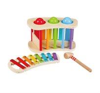 ערכת משחק לילדים 'הך בכדור' ו'קסילופון מעץ' BGIFTS