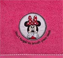 """מגבת ילדים בצבע ורוד עם איור מיני מאוס 100X120 ס""""מ ורדינון"""