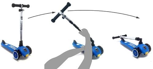 קורקינט לילדים עם ידית מתקפלת ומונע התהפכות דגם Highwaykick 3-6 בירוק - משלוח חינם - תמונה 5