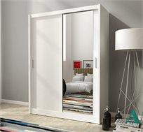 """ארון הזזה 130 ס""""מ עם דלת מראה תוצרת אירופה דגם מאיה HOME DECOR"""