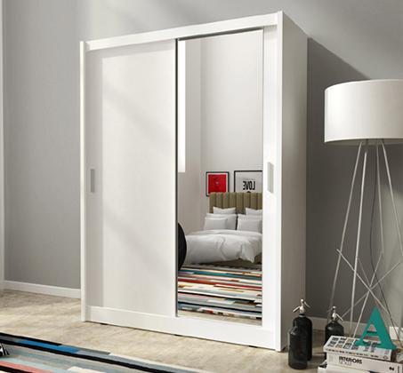 ארון הזזה 2 דלתות עם דלת מראה דגם MAYA