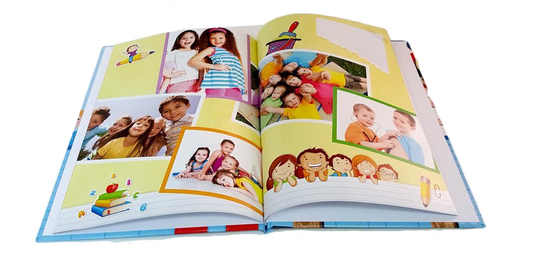 מסכמים שנה נהדרת בגן! אלבום סוף שנה בגודל A4 אנכי כרוך בכריכה קשה 32 עמודים - תמונה 3