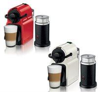 מכונת קפה דגם INISSIA C40 Bundle כולל מקציף חלב, מבית Nespresso  - משלוח חינם!