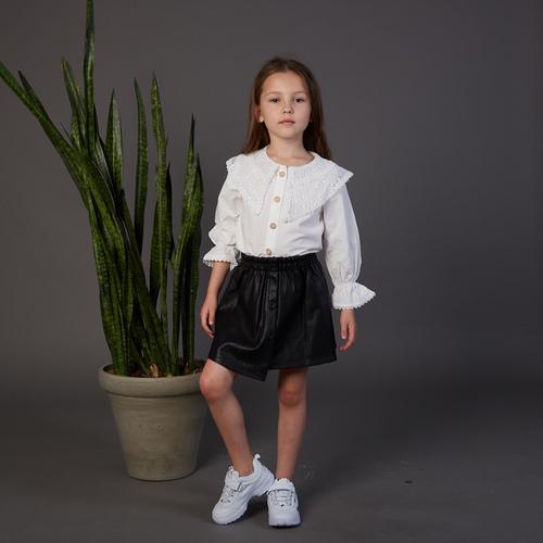 חולצת Oro לילדות (מידות 2-7 שנים) לבן מכופתרת