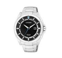 שעון לגבר CITIZEN הפועל ללא צורך בסוללות (אקו דרייב) עשוי סגסוגת סופר טיטניום