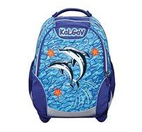 תיק אורטופדי לילדים X BAG דגם דולפינים בצבעים לבחירה + בקבוק שתייה מתנה