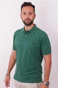 חולצת פולו ירוקה לוגו כחול POLO RALPH LAUREN