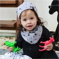 Babymitmit כובע דו צדדי לתינוק אפור -Galaxy