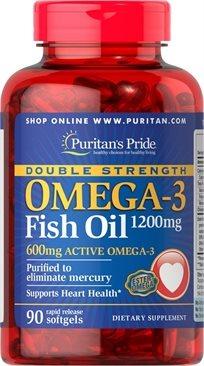 Puritan's Double Strength Omega-3 Fish Oil 1200 Mg