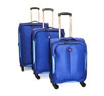 סט 3 מזוודות SWISS דגם TD140215 EVONY NAVY בצבע כחול