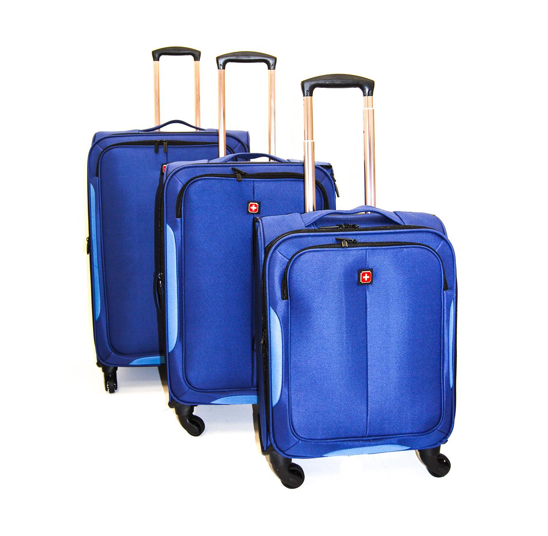 סט 3 מזוודות סוויס דגם TD140215 EVONY NAVY - כחול