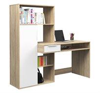 עמדת עבודה עם שולחן כתיבה וספרייה דגם OFEK