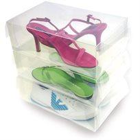 מארז קופסאות שקופות לאחסון נעליים