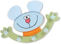 מתלה מעוצב לחדר ילדים בצורת עכברון
