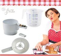 נפה חשמלית לעוגות ומאפים ללא מאמץ מבית Rosopro כולל כד מידה 1 ליטר מתנה!