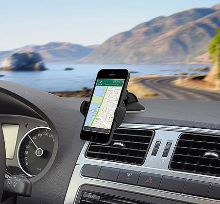 זרוע ואקום לרכב דגם EASY FLEX קומפקטי עם נעילת מכשיר נוחה וחזקה המתאימה למכשירים עד