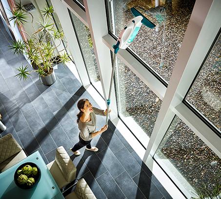מנקה חלונות, מראות ומשטחים חלקים שונים שואב מים ולכלוך ללא סימנים LEIFHEIT גרמניה - משלוח חינם - תמונה 3