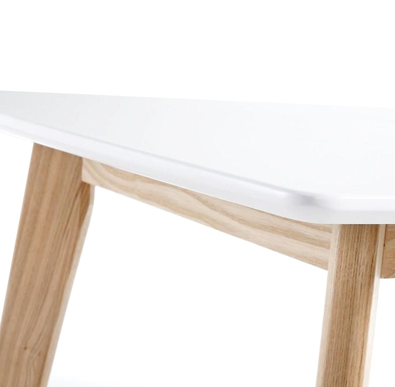 שולחן פינת אוכל בעיצוב מודרני בצבע לבן בעל רגלי עץ חזקות  - תמונה 3