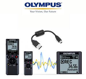 טייפ מנהלים דיגיטלי מבית Olympus עם הפעלה קולית
