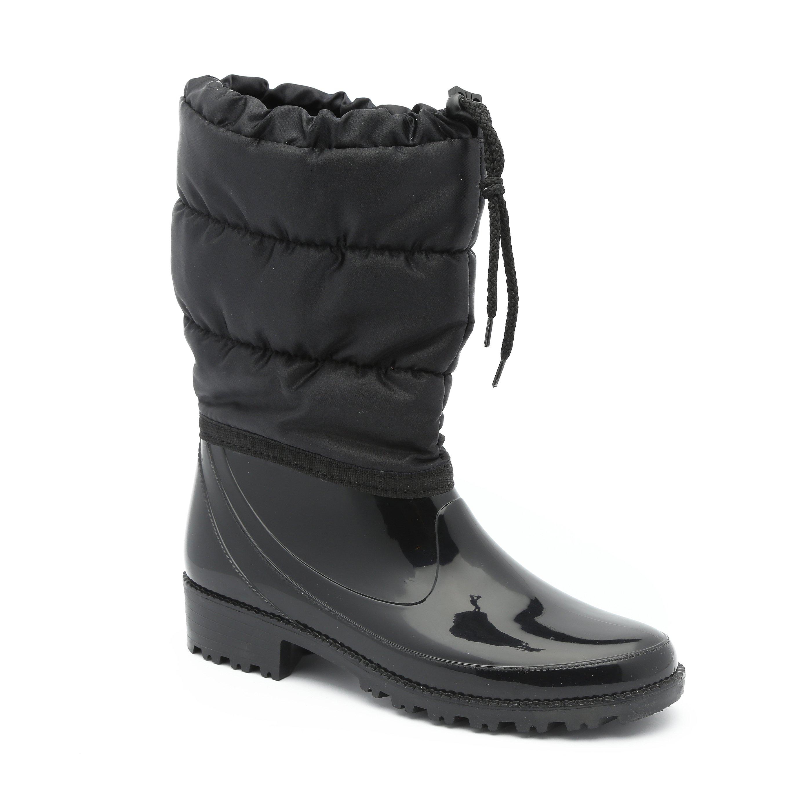 Seventy Nine Wendy 2 - מגפי גשם שחורים עם גפה מבריקה