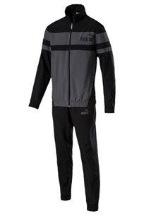 חליפת ספורט רב עונתית לגברים PUMA CB Woven Suit Cl בצבע שחור ואפור