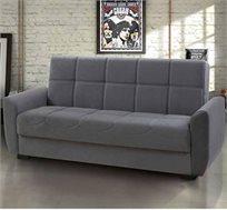 ספה נפתחת למיטה כוללת 3 מושבים בעיצוב קפיטונאז מודרני