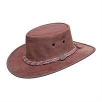 Barmah 1018 HS - כובע מעור קנגורו אמיתי בצבע חום