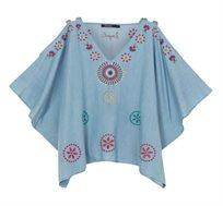 חולצת ג'ינס SIENA לנשים - כחול