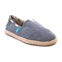 Paez Navy - נעלי בד אפורות בשילוב סוליה רקומה