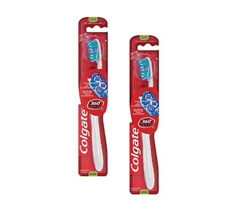 2 מארזים של קולגייט מברשת שיניים 360 אופטיק ווייט