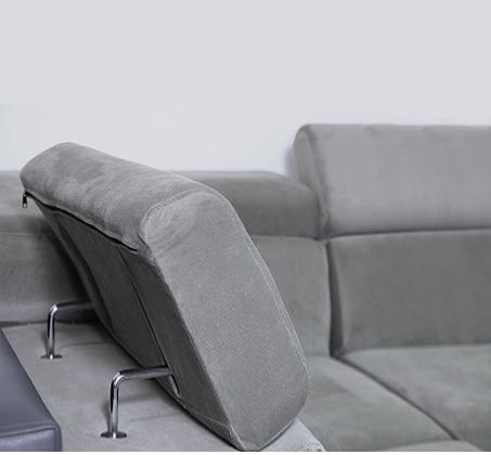 מערכת ישיבה פינתית דגם אקוודור בריפוד דמוי עור בעל מגע נעים וקל לניקיון דגם אקוודור VITORIO DIVANI - תמונה 8