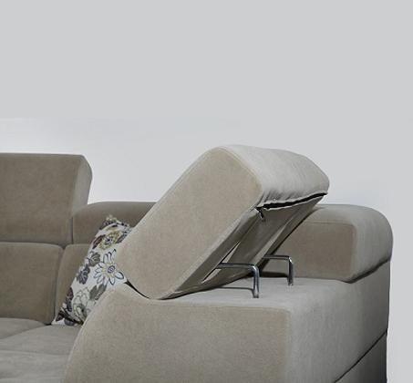 מערכת ישיבה פינתית דגם אקוודור בריפוד דמוי עור בעל מגע נעים וקל לניקיון דגם אקוודור VITORIO DIVANI - תמונה 4