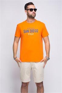 """חולצת טישרט בצבע כתום """"סן דייגו"""" צווארון עגול POLO RALPH LAUREN"""