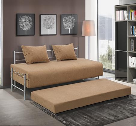 ספת ילדים ונוער LEONARDO על קל איכותית הנפתחת למיטה זוגית דגם שקד כולל ארגז מצעים - תמונה 2