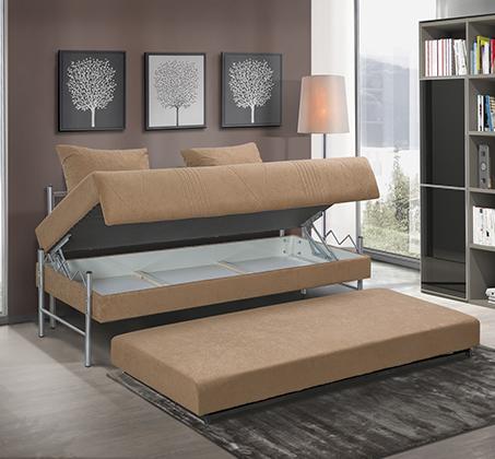 ספת ילדים ונוער LEONARDO על קל איכותית הנפתחת למיטה זוגית דגם שקד כולל ארגז מצעים - תמונה 3