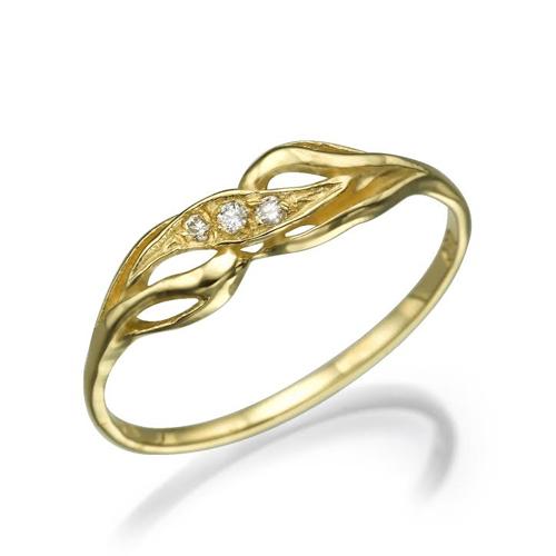 טבעת יהלומים מעוצבת 0.06 קראט