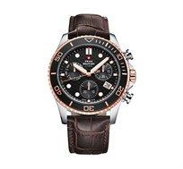 שעון יד כרונוגרף לגבר SWISS MILITARY עשוי פלדת אל חלד ועמיד במים