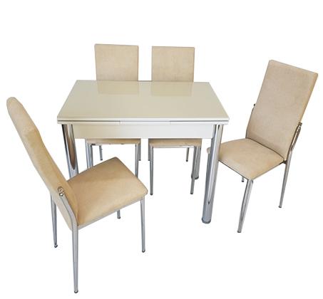 סט פינת אוכל מעוצב הכולל שולחן עם אפשרות הרחבה ו-4 כיסאות בצבעים וגדלים לבחירה  - תמונה 2