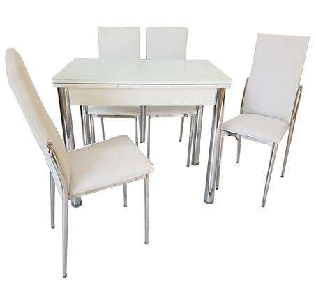 סט פינת אוכל מעוצב הכולל שולחן עם אפשרות הרחבה ו-4 כיסאות בצבעים וגדלים לבחירה  - תמונה 4