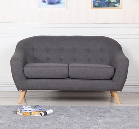 ספת תלת מושב מבד SOHO עם רגליי עץ חזקות ועמידות לאורך שנים BRADEX - תמונה 2