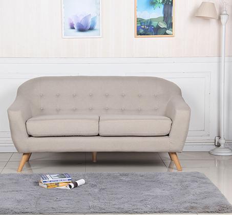 ספת תלת מושב מבד SOHO עם רגליי עץ חזקות ועמידות לאורך שנים BRADEX - תמונה 5