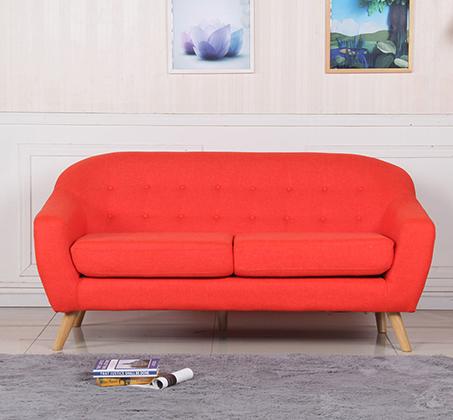 ספת תלת מושב מבד SOHO עם רגליי עץ חזקות ועמידות לאורך שנים BRADEX - תמונה 4
