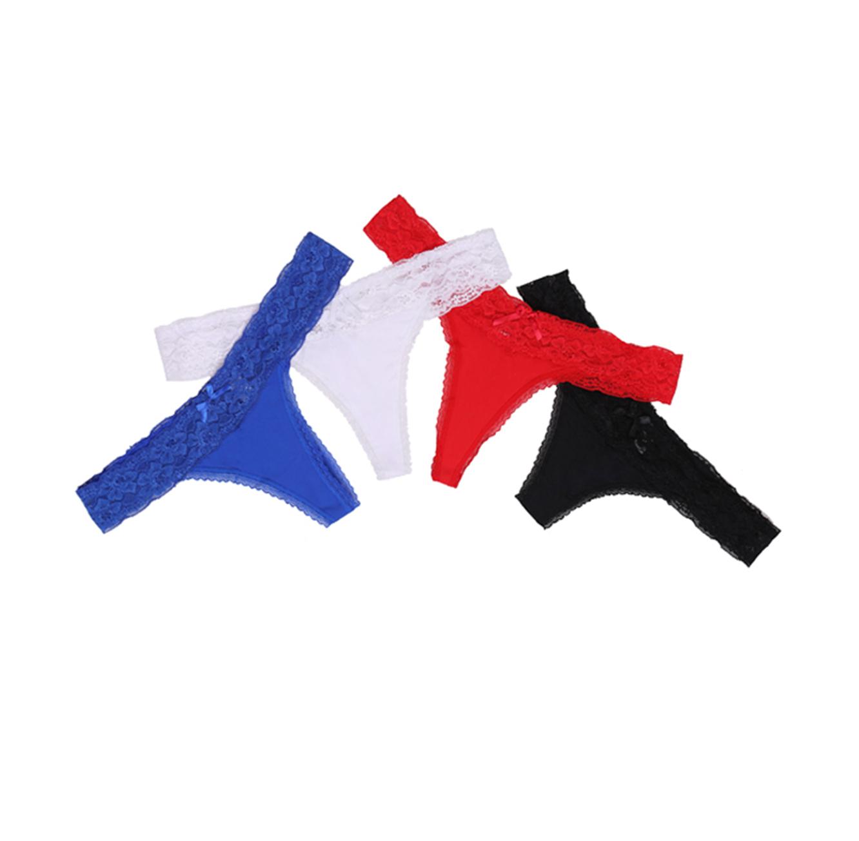 תחתון חוטיני עם תחרה לנשים ONTOP  - צבע לבחירה