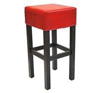כסא בר שרפרף למטבח מעץ כולל ריפוד מושב דגם גילה