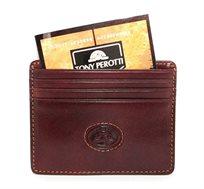 ארנק כרטיסים מעור TONY PEROTTI בשני צבעים לבחירה