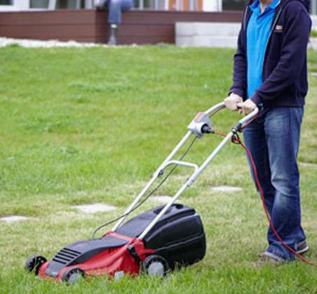 מכסחת דשא חשמלית סל איסוף קשיח בנפח של 28 ליטר IKRA גרמניה - משלוח חינם - תמונה 2