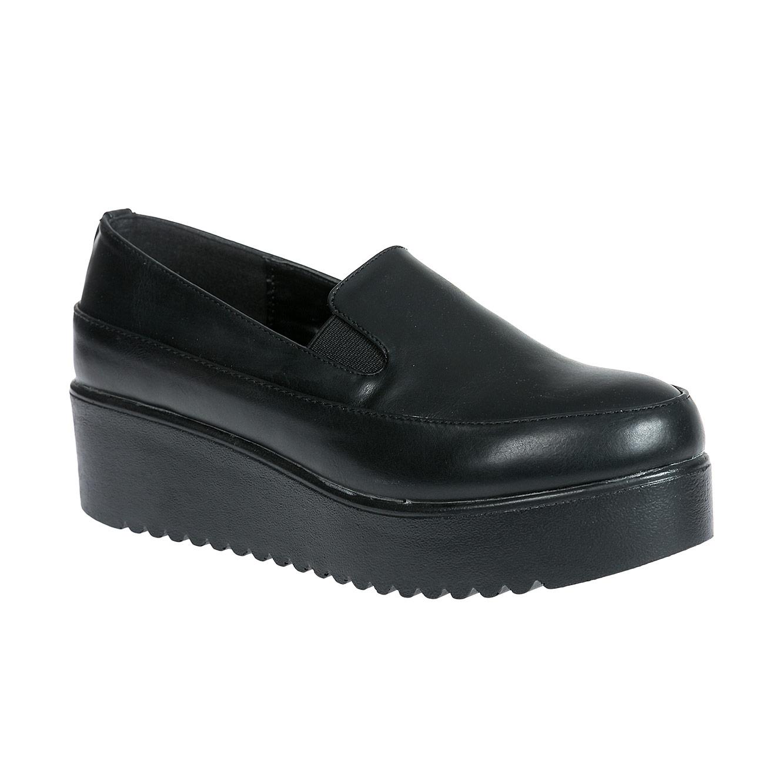 נעלי אלגנט עם פלטפורמה לנשים - שחור