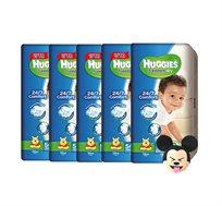5 אריזות Huggies Freedom Dry + בובה מיקי מאוס לשון בחוץ