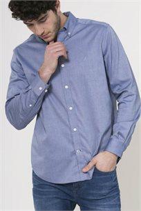 חולצה מכופתרת לגברים - כחול